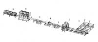 Linie tehnologica pentru producerea elementelor de paleti (cu fierastraie panglica)