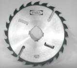 Panza circulara placata cu videa cu cutite laterale